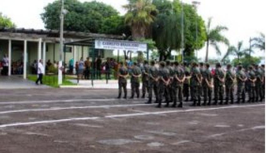 Formatura de licenciamento dos atiradores matriculados em 2017