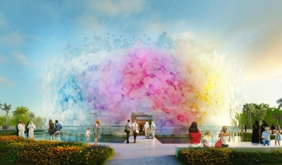 Paul Cocksedge Designs Pavilhão Living Watercolour para a EXPO 2020